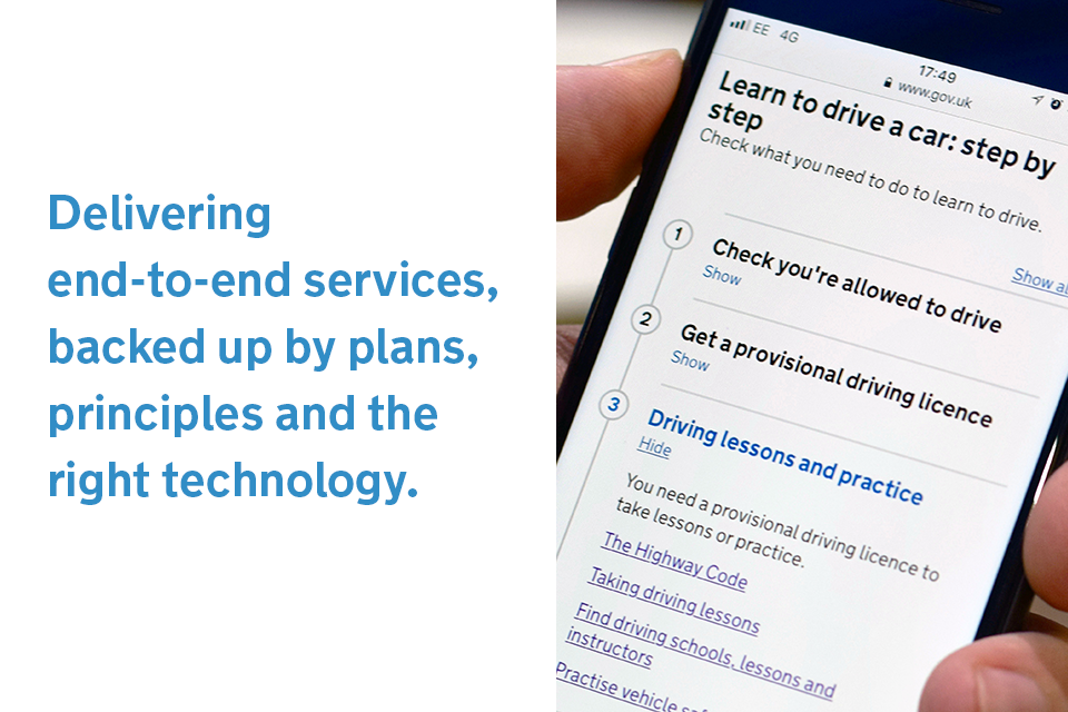 Delivering end-to-end services, back up by plans, principles and the right technology.