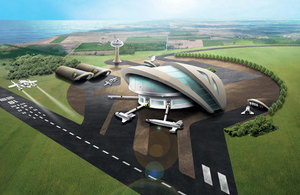 Proposed UK spaceport.