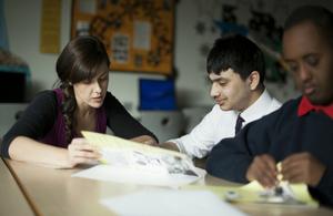 Teacher and a pupil