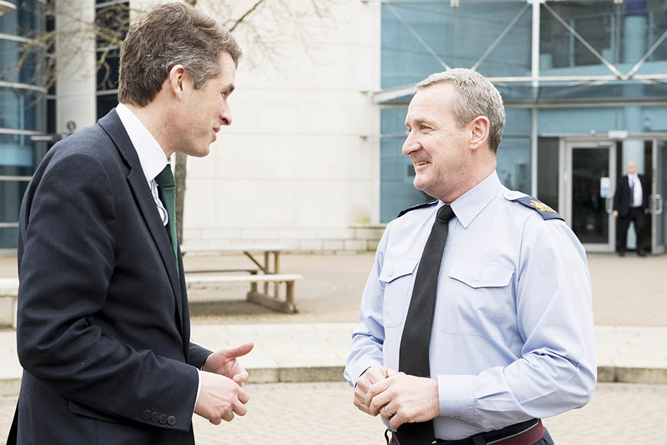 Daz recently met the Defence Secretary Gavin Williamson
