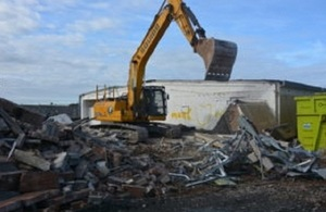 Drum Store, a fixture at the Repository since the 1990s, was successfully demolished
