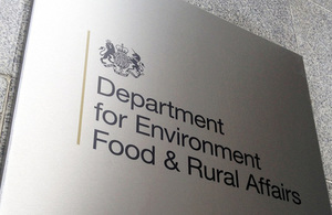 The Department of the Environment, Food and Rural Affairs sign