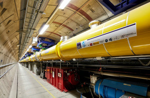 View of the tunnel containing the European X-Ray Free-Electron Laser (XFEL).
