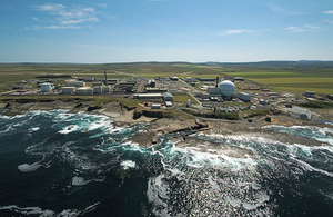 Foreign waste is collected from Dounreay