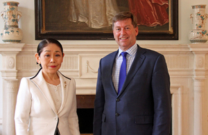 Ms Atsuko Nishimura, Ambassador in Charge of Women's Issues at the Ministry of Foreign Affairs and British Ambassador to Japan Paul Madden