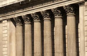 Pillars outside the Bank of England