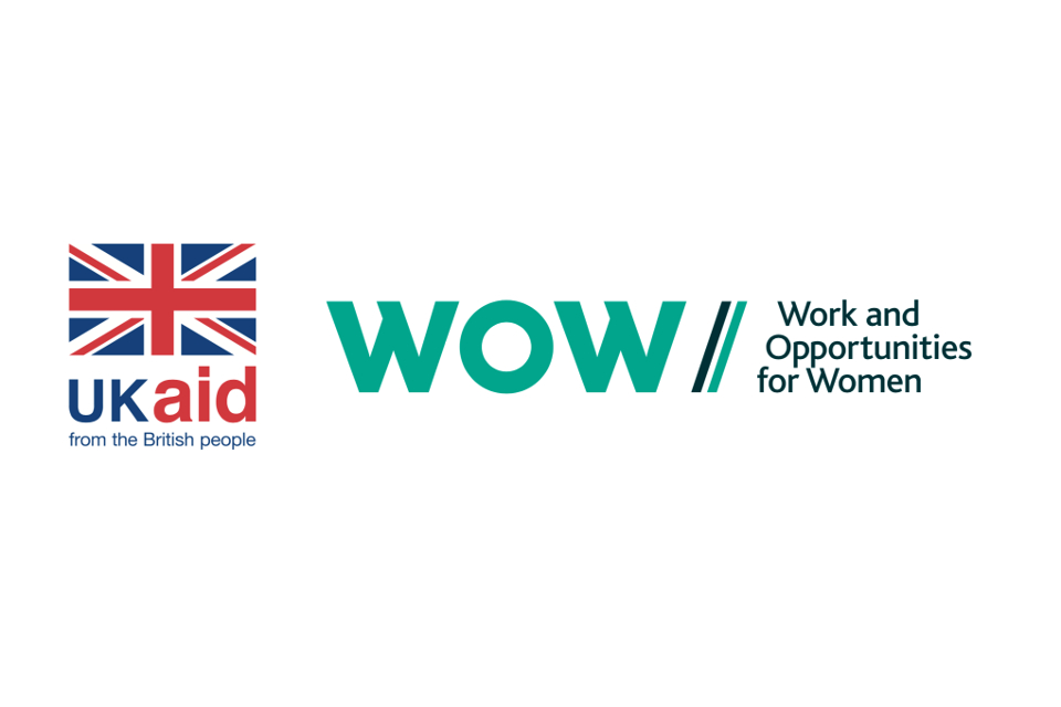 UK aid and WOW logo