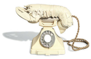 Lobster Telephone (White Aphrodisiac), by Salvador Dalí and Edward James.