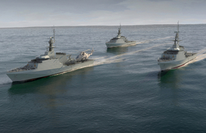 HMS Forth is the first of five Batch 2 River Class Offshore Patrol Vessels