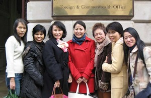 Officers from Thailand's National Office for Empowerment of Persons with Disabilities (NEP) visiting the UK