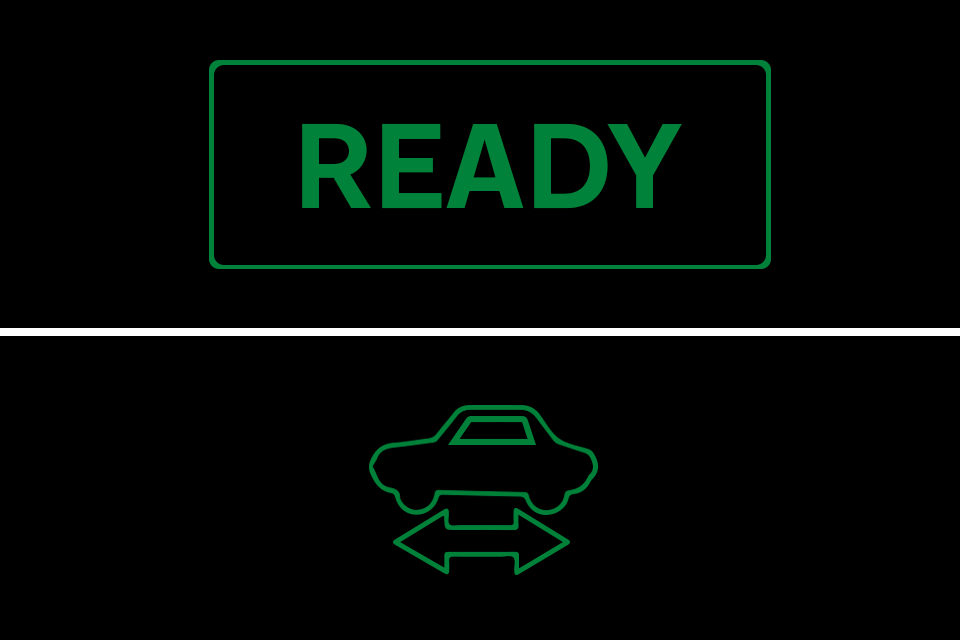 'Ready' symbol on hybrid and electric vehicles