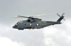 A merlin helicopter