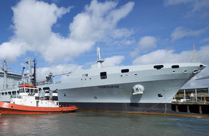 RFA Tidesurge has arrived in Cornwall