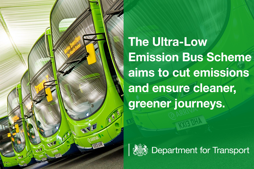The Ultra-Low Emission Bus Scheme aims to cut emissions and ensure cleaner, greener journeys.