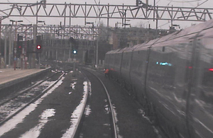 Still image from forward facing CCTV of the northbound train (image courtesy of Virgin Trains)