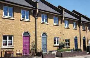 row of houses to illustrate price paid data information