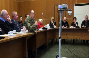 Photo of attendees at the Durham Armed Forces Forum. Photo: Michael Potts. All rights reserved