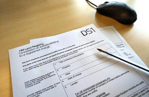 Paper form DS1