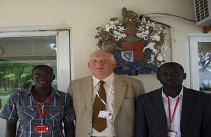 High Commissioner David Morley with Scholars
