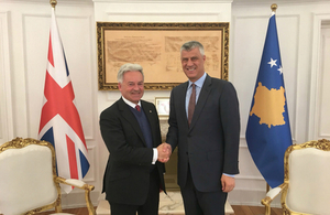 Minister for Europe, Alan Duncan with Kosovo President Thaci