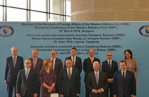 Minister for Europe, Alan Duncan and the Foreign Ministers of all 6 Western Balkans countries during his first official visit to Bosnia and Herzegovina (BiH).
