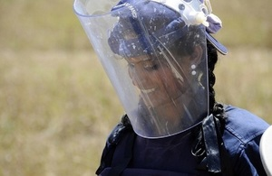 Sri Lanka demining technician