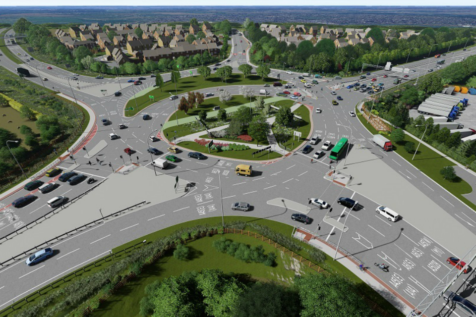 image showing A45/A6 Chowns Mill upgrade