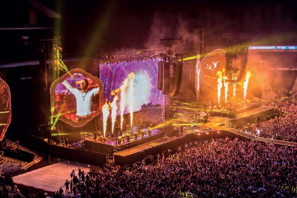 Coldplay in concert.