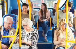 Bus passengers.