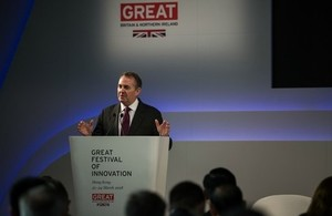 Picture of Liam Fox at GREAT Festival of Innovation in Hong Kong