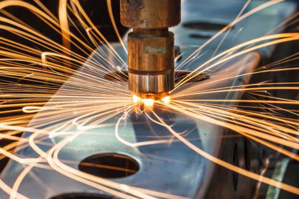 Spot welding machine (credit: PJ66431470/iStock - ID636502516).