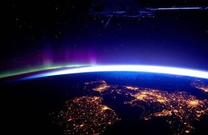 Image of UK and Ireland pictured from the International Space Station