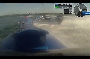 Formula 4 powerboats collision
