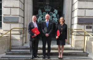 Picture of Dr Liam Fox, John Mahon, Baroness Rona Fairhead