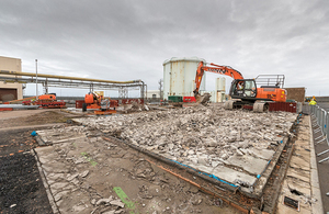 Dounreay materials test reactor demolished support buildings