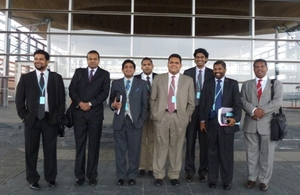 Sri Lankan MPs arrived at the UK for the two-week long visit.