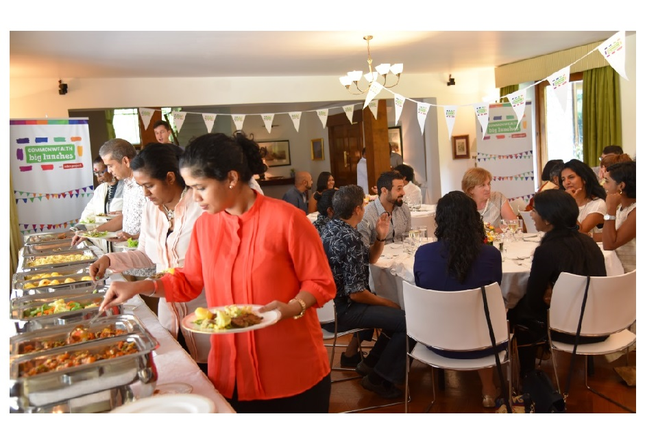 The British High Commissioner to Sri Lanka, James Dauris, together with the Director of the British Council in Sri Lanka, Gill Caldicott, hosted a Commonwealth Big Lunch