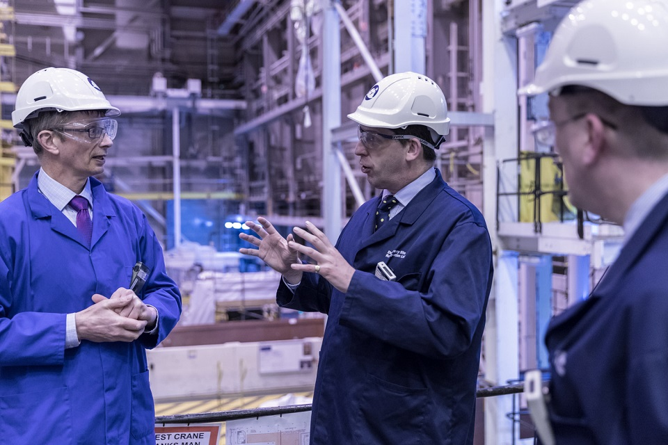 Lord Duncan visits Dounreay Prototype Fast Reactor (PFR) and Dounreay