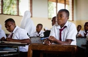 School girl Desderia in Tanzania. Picture: Eliza Powell/Camfed