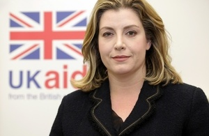 Secretary of State for International Development Penny Mordaunt