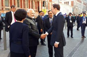 Prime Minister Modi with DCMS Secretary of State Matt Hancock