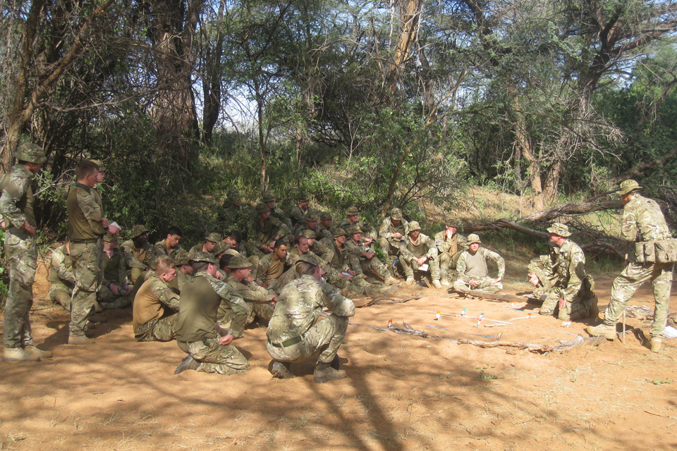Soldiers taking part in Exercise Askari Thunder