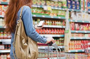 Food shopping trolley