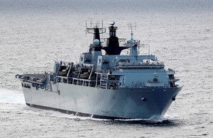 The British Royal Navy ship HMS Albion