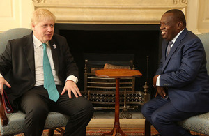 Boris Johnson and Foreign Minister Moyo