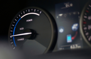 A hybrid car tachometer