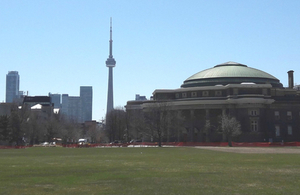 Toronto skyline, including the CN Tower