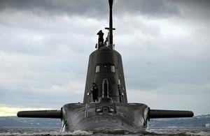 HMS Artful at sea