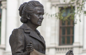 The statue of Millicent Fawcett in Parliament Square