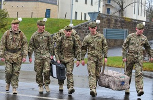 Soldiers from 2nd Battalion The Royal Regiment of Scotland ready for their deployment to Afghanistan [Picture: Mark Owens, Crown copyright]